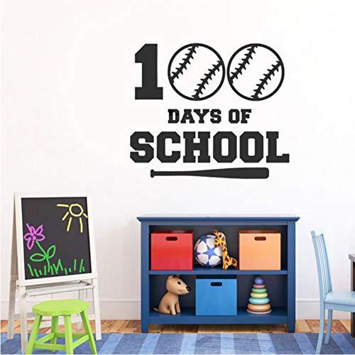 Ysain 100. Tag Der Schule Jungen Baseball Decals Vinyl Innenwand Kindergarten Dekoration Wandaufkleber Selbstklebende Wand Poster 49 * 42 Cm (100 Schule-poster Der Tage)