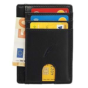 Porrity Portafoglio da uomo in pelle sintetica Porta carte di credito//carte didentit/à Portafoglio 2 colori Uomo