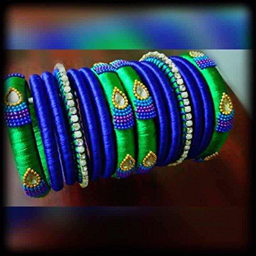 green-and-blue-silk-thread-bangles-set
