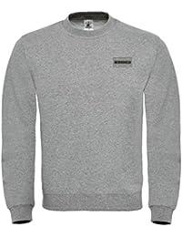Ultrabasic Herren Grafik-Print Sweatshirt Popular Words Humvee Noir Schwarz