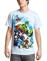 Marvel Team Ups Second War Carolina Blue T-Shirt