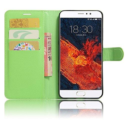 GARITANE Meizu Pro 6 Plus Hülle Case Brieftasche mit Kartenfächer Handyhülle Schutzhülle Lederhülle Standerfunktion Magnet für Meizu Pro 6 Plus (Grün)