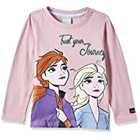 Disney Girl's Frozen Long Sleeve T-Shirts, Pink, 7 - 8 Years
