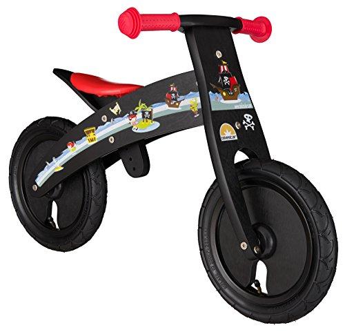 """BIKESTAR Bicicleta sin pedales madera para niños ★ 12 pulgadas ★ Color Negro ★ A partir de 2 años ★ 12"""" Marco Adjustable Edition 2018"""