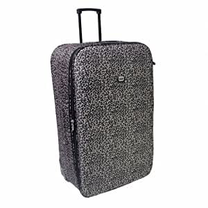 Karabar Large 27 Inch Lightweight Expandable Suitcase - 3 Years Warranty! (Leopard Grey)