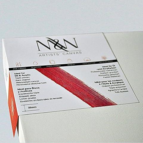 1 pieza de 36 x 24 pulgadas artista lona de la calidad - lienzo de pintura - 38mm de profundidad; 100% algodón; 380g/m²; Triple Preparado por M&W (aprox. 91 X 61