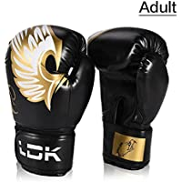 Prom-note Guantes de Boxeo - para Mujeres Adultas/Hombres Guantes de Boxeo de Cuero MMA Muay Thai Boxe De Luva Mitt Equipment 10oz
