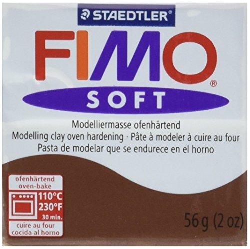 Staedtler Fimo Soft Polymer Clay 2ounces-8020–75schokolade