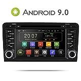 Aumume Android 9.0 Autoradio GPS DVD pour Audi A3/S3 Navigation de Voiture Ecran Tactile supporte Bluetooth Mirrorlink Dab+ Commande au Volant (avec Carte de 16 Go)