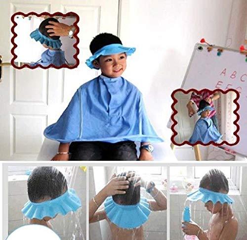 Ibepro®, cuffia di protezione dallo shampoo durante doccia e bagnetto, per neonati e bambini, tiene l'acqua lontana da occhi e viso