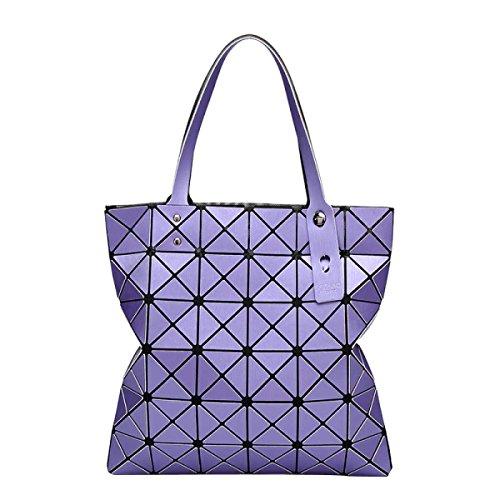 Frauen Geometrische Mode Matte Umhängetasche Purple