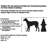 Songmics Faltbare  Oxford Gewebe Hundebox Katzenbox Hundetransportbox – L 70x52x52cm Schwarz PDC70H - 5
