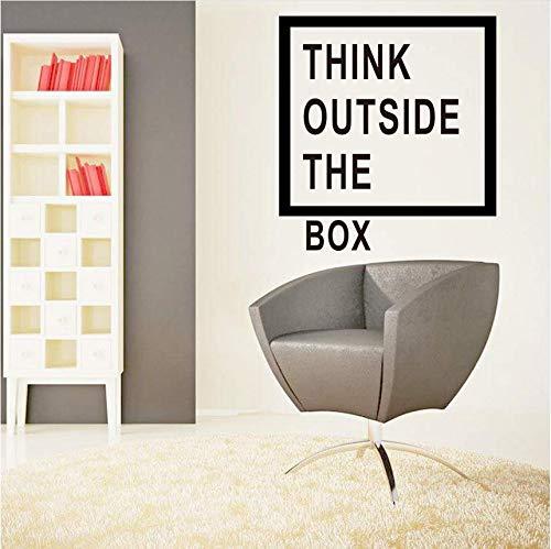 Motivation Büro Dekoration Denken Außerhalb Der Box Zitate Wandtattoo Art Decor Home Wand-Dekor Aufkleber 50 * 60 Cm ()