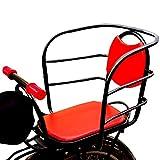 NACHEN Fahrrad Kindersitz Hinten Baby Verdickter Sitz Posterior Kindersicherung Rücksitz Fahrrad Universal Kindersitz, Red