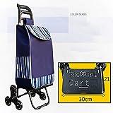 HCC& Gefaltet Einkaufswagen Tragbar Kofferkuli Lagerrad Klettern Wagen Mit Wasserdicht Tasche Dynamisch: 35kg , G