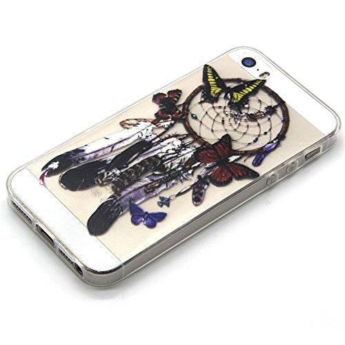 TPU Silikon Schutzhülle Handyhülle Painted pc case cover hülle Handy-Fall-Haut Shell Abdeckungen für Smartphone Apple iPhone 5 5S SE +Staubstecker (Q3) 2