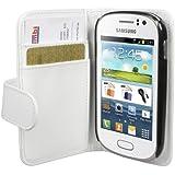 mumbi Tasche im Bookstyle für Samsung Galaxy Fame Tasche weiss (NICHT für Fame Lite)