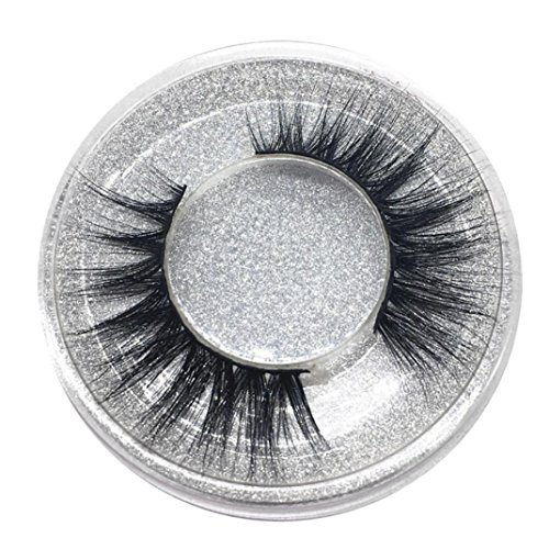 Falsche Wimpern, MMLC 1 Paar Luxus 3D Falsche Wimpern Flauschigen Streifen Wimpern Lange Natürliche Partei Wimpern Verlängerung Einzelwimpern (A)