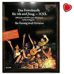 Das Fetenbuch für Alt und Jung - XXL 100 Lieder und Hits zum Mitsingen, leicht arrangiert für Gesang und Gitarre - im großen Notenformat mit Spiralbindung - mit Notenklammer - ED22700 9783795711740