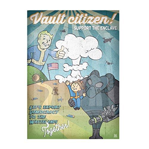 """50x70 - Poster originale """"Fallout Enclave"""" di Heya"""