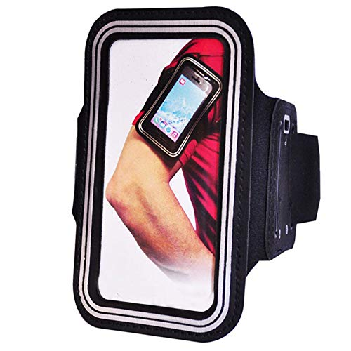 MTP Products Njord Sport Gym Armband kompatibel für iPhone 4, iPhone 4S - Schwarz (4 Frontplatte Schwarz Iphone)