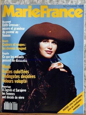 marie-france-no-452-du-01-11-1993-edith-cresson-beaute-cheveux-ce-que-les-enfants-pensent-du-dimanche-mode-bottes-redingotes-velours-a-zagreb-et-sarajevo-les-femmes-ont-decide-de-vivre