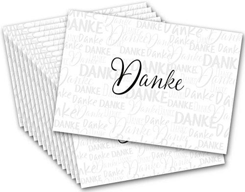 Kigima Postkarten Danke Freundschaft Liebe Dankbarkeit Danksagung 15 Stück Tausend Dank (Danke Grußkarten)
