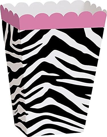 Zebra Print Treat Boxes, Pack of 8