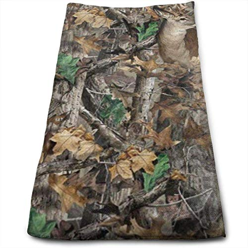 Realtree Camo Wallpapers Microfiber Travel & Sports Towel, Ultra Compact, Lightweight, Absorbent and Fast Drying Towels, Ideal for Gym, Beach, Fitness, Exercise, Yoga -