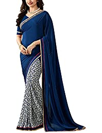 Tagline Women's Saree Centre Women's Printed Georgette Saree With Blouse Material For Party Wear,Wedding,Casual...