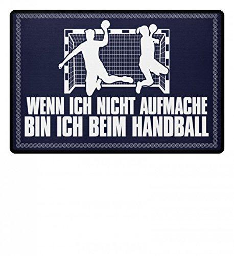 shirt-o-magic .bin ich beim Handball - Geschenk Handballer-in Handballspieler-in Handball-Fan - Fußmatte