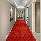 LYDB Corridoio Corridore Ingresso Tappeto Moquette Antiscivolo A Prova di umidità Non tossico Lavabile in Lavatrice, Dimensioni Personalizzate, 7 mm di Spessore (Colore: Rosso, Dimensioni: 1,2x4 m)