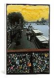 kunst für alle Leinwandbild: Riccardo Simonutti Petite Nouvelle d UNE pluie d Automne - hochwertiger Druck, Leinwand auf Keilrahmen, Bild fertig zum Aufhängen, 30x40 cm