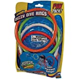 Prime Time Toys - Diving Masters Dizzy Dive Rings (Pool Dive Toys) by Splash Bombs