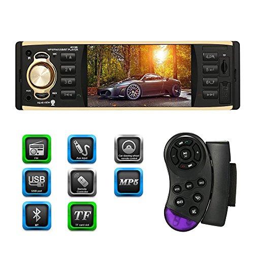 KKmoon 2 Din 7 Inch Car Stereo Universal HD DVD Player BT Radio Entertainment Multimedia USB/TF In-Dash FM Aux Input