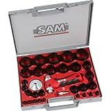 SAM Outillage 694-C-32-N - Cuchilla de sierra circular   (32 piezas, incluye maletín)