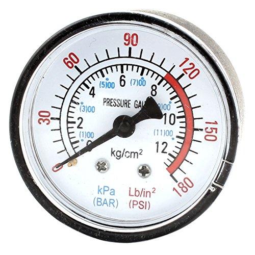 sourcingmap® Luft Kompressor Pneumatisch Flüßig Vakuum Druckmesser 0-12Bar 0-180 PSI
