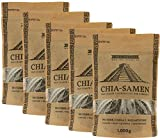 Günstigen + billigen Chia Samen kaufen: 5 x 1 kg Chia Samen kaufen vom Hersteller Chia Handel, hochwertige Qualität (5x 1kg)
