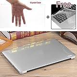 """frixie (TM) caliente brillante cristal transparente plástico duro portátil funda + teclado cubierta para macbook air pro retina 11""""12"""" 13""""15"""""""