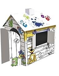 Casa de Dibujos 3D para Colorear