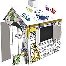 Maison carton for Maison en carton a colorier