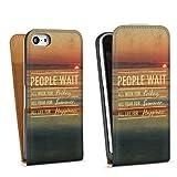 DeinDesign Apple iPhone 5c Étui Étui à rabat Étui magnétique People Wait 2
