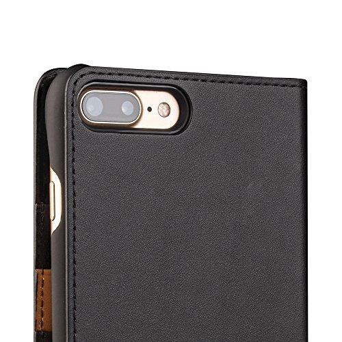 Apple iPhone Echtleder Wallet Case, braun, 6 Plus / 6s Plus Black(New)