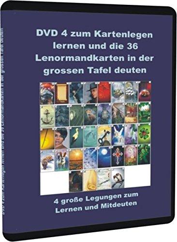 DVD 4 zum Kartenlegen lernen und die 36 Lenormandkarten in der grossen Tafel deuten: 4 große Legungen zum Lernen und Mitdeuten