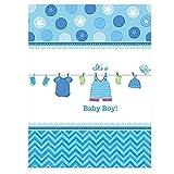 Amscan 5714911.37X 2,59m Tischdecke für die Geburt eines Jungen