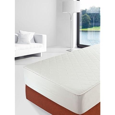 Savel, Protector Acolchado 100% Natural - Tejido y relleno 100% algodón, 135x190/200cm (para camas de