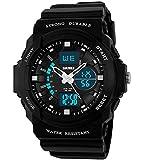Jungen Jugendliche Kinder Digital Sportuhr - Multifunktion 50M Wasserdicht Elektronisch Sport Armbanduhr mit LED Beleuchtung Stoppuhr Timer Wecker für Kinderuhr uhren ( Schwarz )