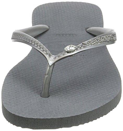 Havaianas Slim Crystal Glamour Sw, sandales Femme Gris