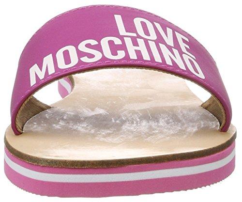 Love Moschino, Ciabatte Donna Argento (Fuchsia)