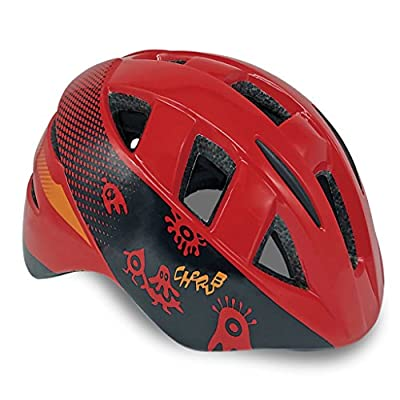 Meteor Baby Kids childrens Boys Cycle Safety Crash Helmet Small size (Cherub Red, 48-54 cm)